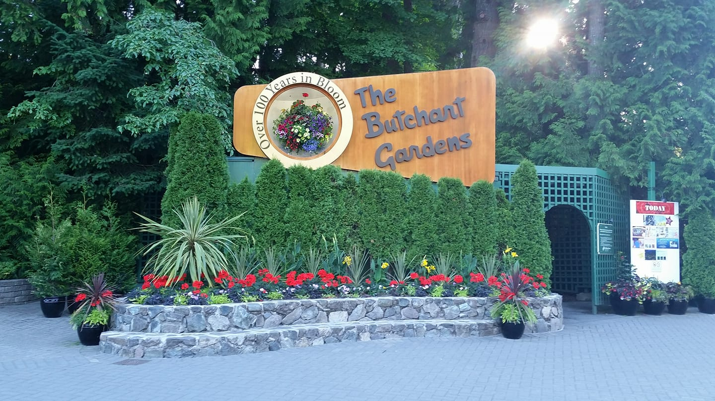 Butchart Gardens Welcome!